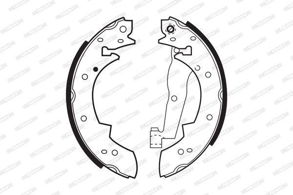 Jogo de maxilas de trav com a referencia FSB173 da marca FERODO