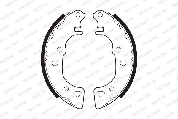 Jogo de maxilas de trav com a referencia FSB232 da marca FERODO