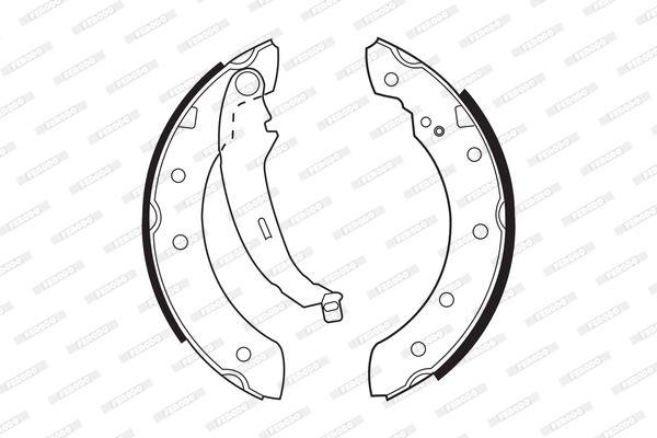 Jogo de maxilas de trav com a referencia FSB519 da marca FERODO
